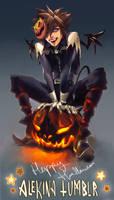 Happy Halloween Month by AlekinaArt