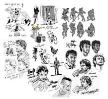 Digi-Inktober doodles