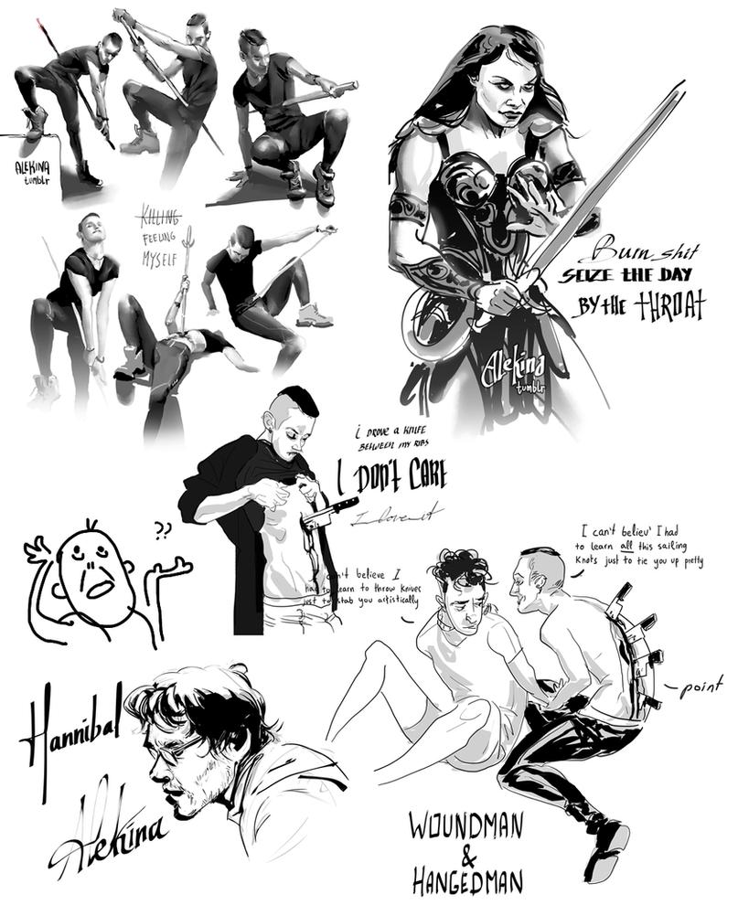 Digi-Inktober doodles n2 by AlekinaArt