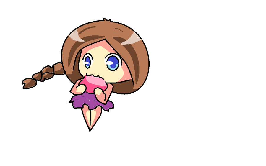 chibi eating a brain by Purpl3Surreal on deviantART