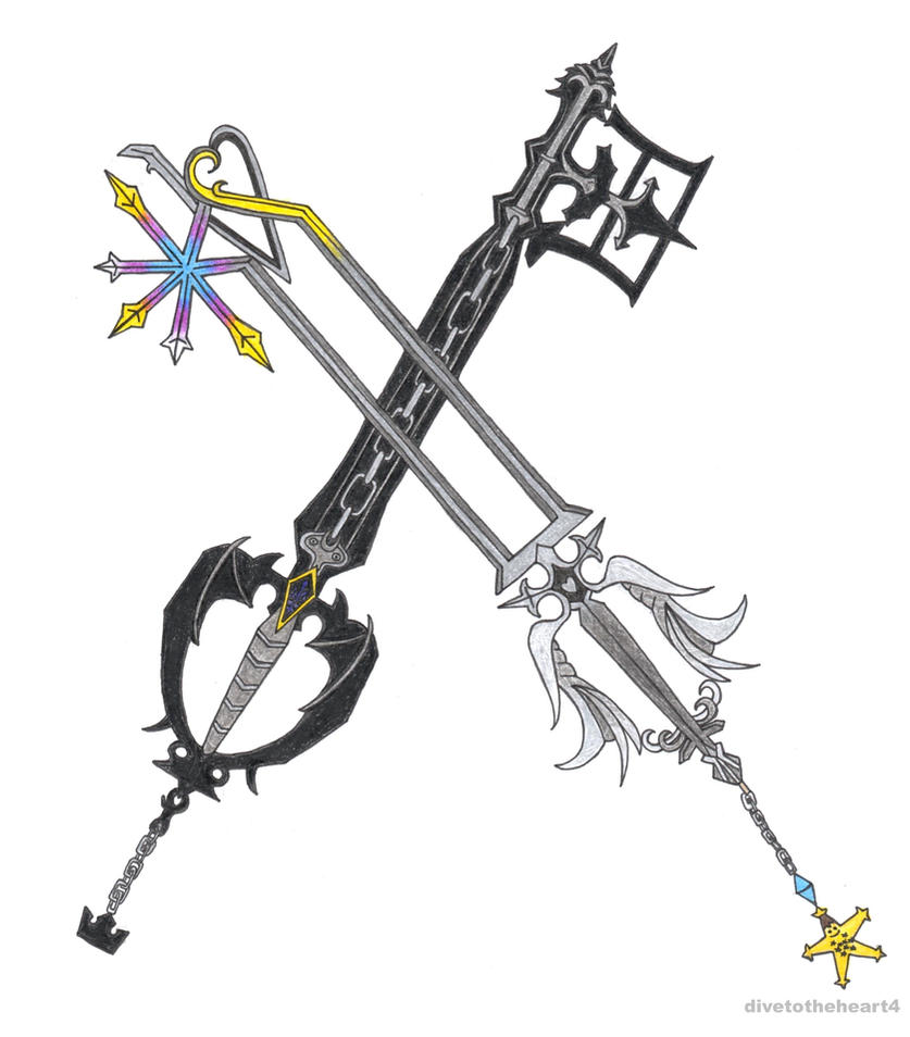 Roxas' keyblades (Oblivion and Oathkeeper) by ...