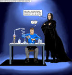 Severus Snape and Peter Parker by Nick-Perks