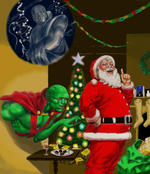 Santa, J'onn J'onnz, The Watcher, Doctor Who by Nick-Perks