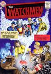 Watchmen JLA cover Homage