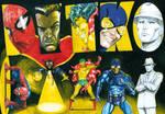 Ditko characters - Spider-Man, Dr Strange, Creeper