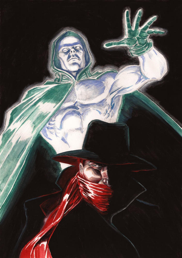 The Spectre meets The Shadow by Nick-Perks