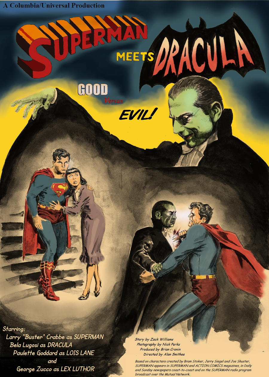Superman versus Dracula by Nick-Perks