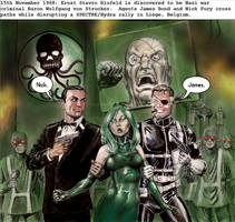 James Bond and Nick Fury - agent of SHIELD by Nick-Perks