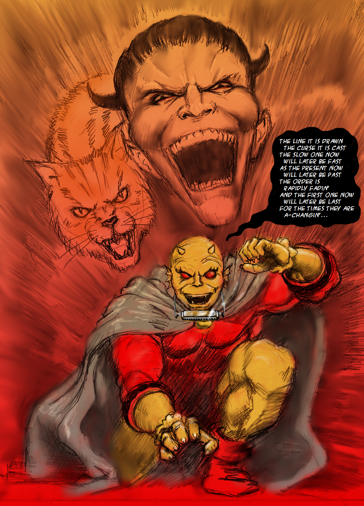 Etrigan 'replaces' Bob Dylan by Nick-Perks