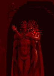 Game of Thrones - Stannis/Vision, Melisandre/Wanda by Nick-Perks