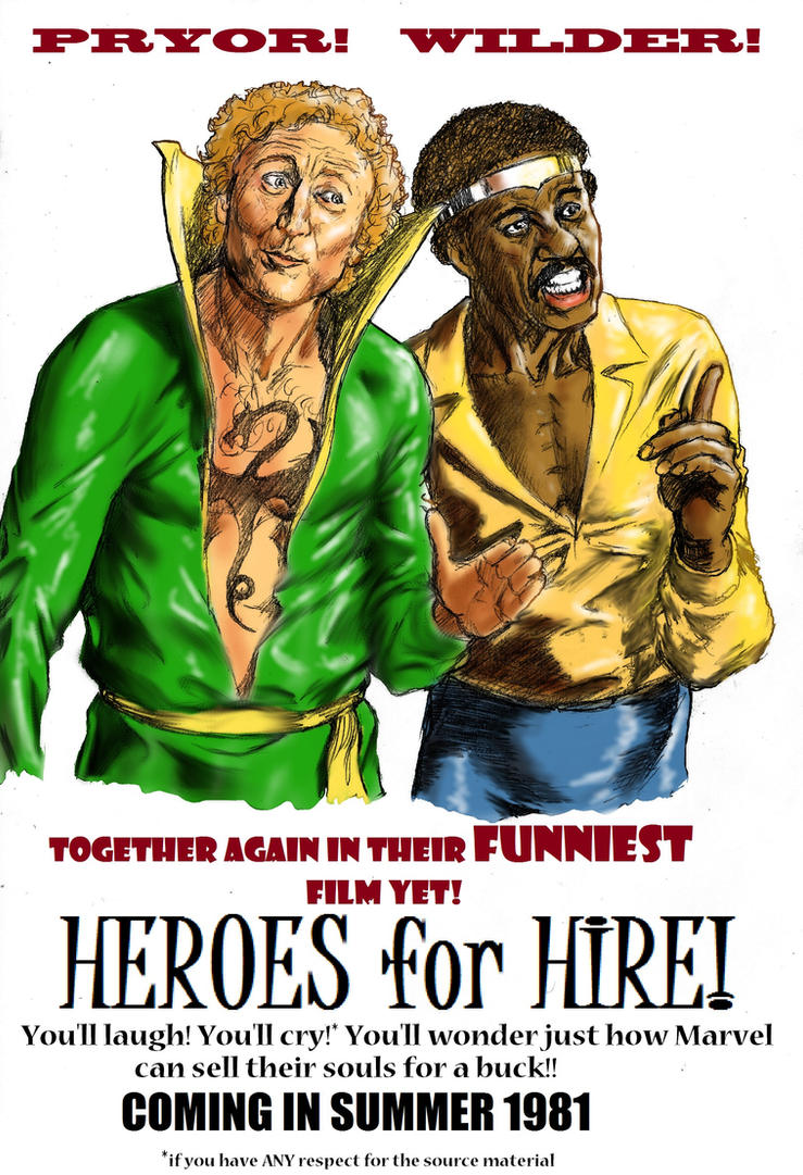 TLIID miscasting - Pryor, Wilder Heroes for Hire by Nick-Perks
