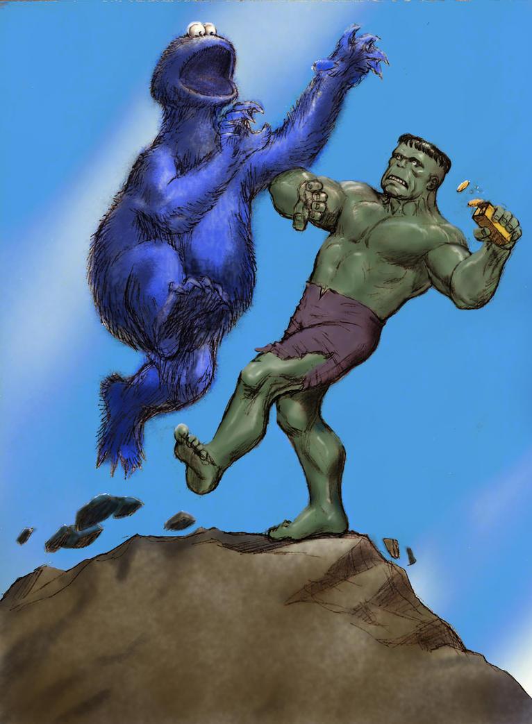 TLIID Muppet mash-up Cookie Monster v Hulk by Nick-Perks on DeviantArt
