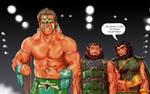 TLIID Ultimate Warrior tribute w Kalibak and Ulik