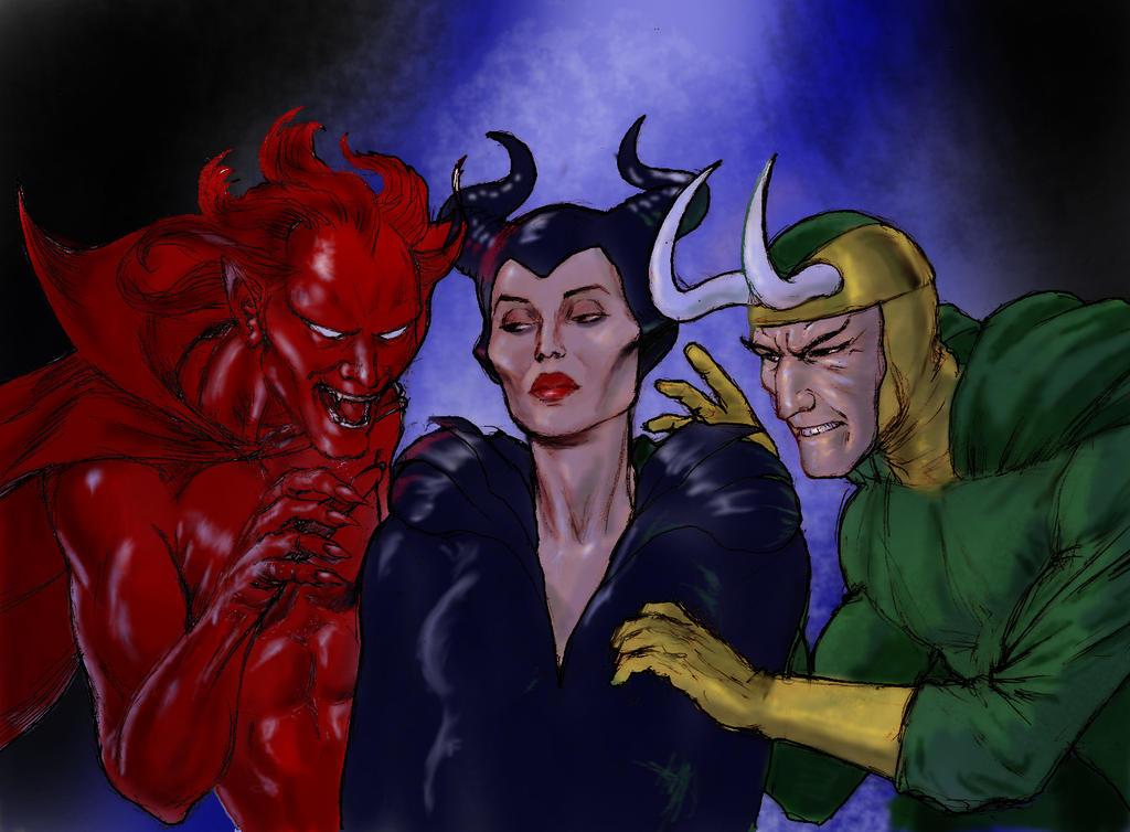 Tliid Disney Mash Up Maleficent Mephisto Loki By Nick Perks
