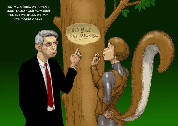 TLIID Detective/Munch Week Squirrel Girl's Fan-Boy by Nick-Perks