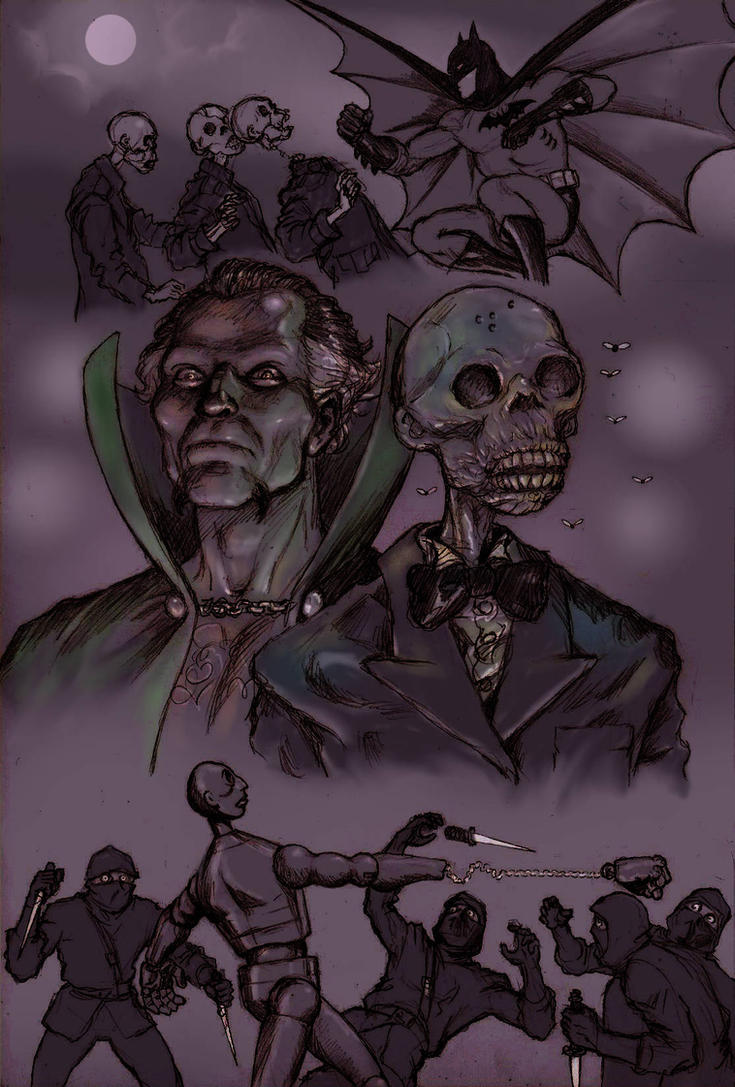 TLIID team-up Ras Al Ghul and Emperor Zombie by Nick-Perks