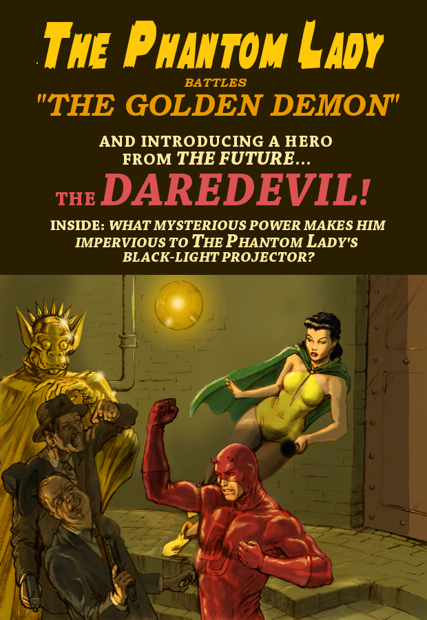 TLIID Daredevil anniversary DD and Phantom Lady 2 by Nick-Perks