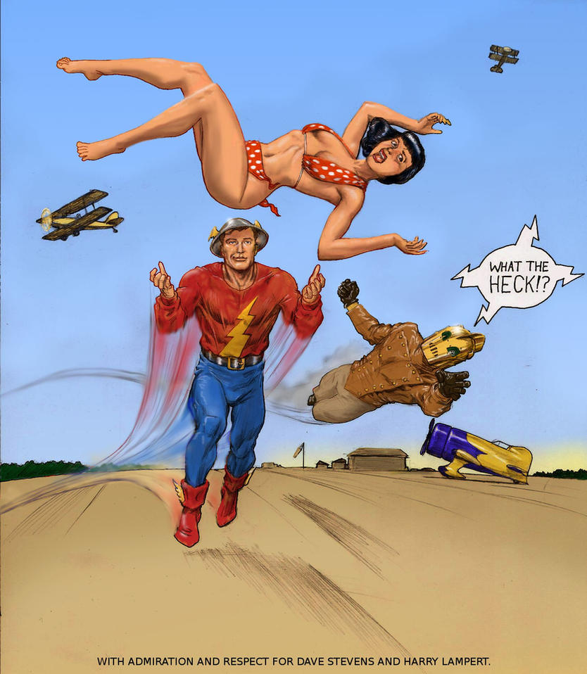 TLIID Flash 75 years - with The Rocketeer by Nick-Perks
