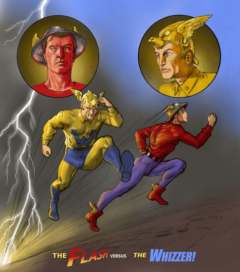 TLIID Flash 75 years - with The Whizzer by Nick-Perks