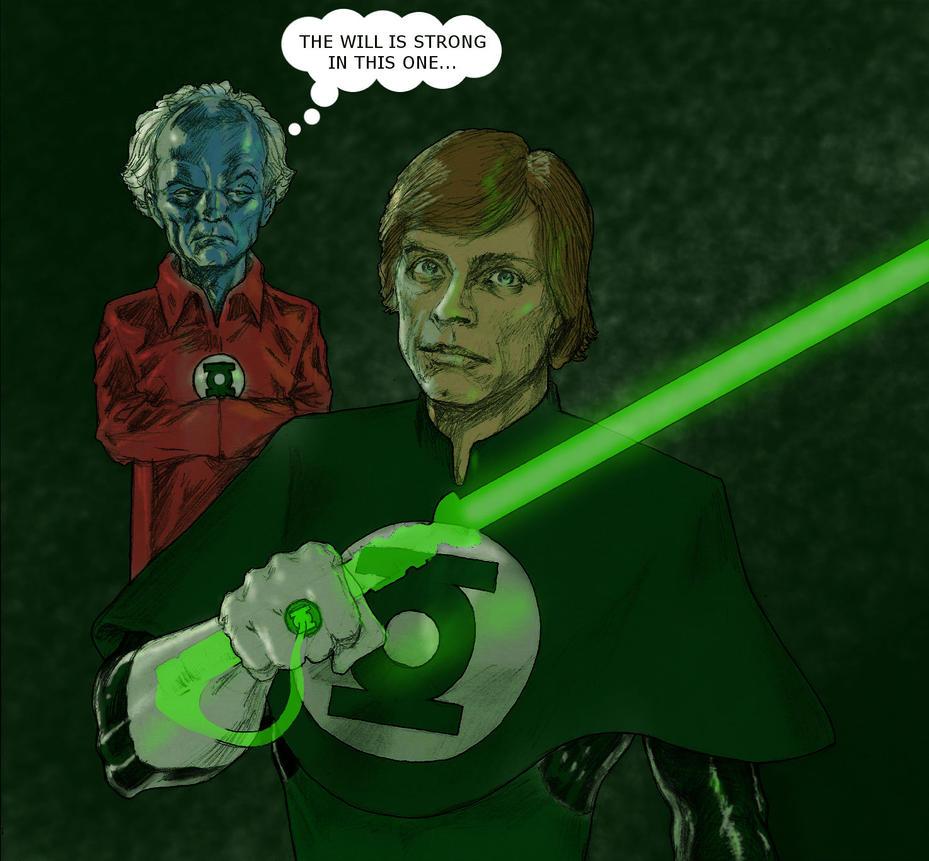 TLIID Star Wars Mash-Ups Luke Green Lantern Corps by Nick-Perks