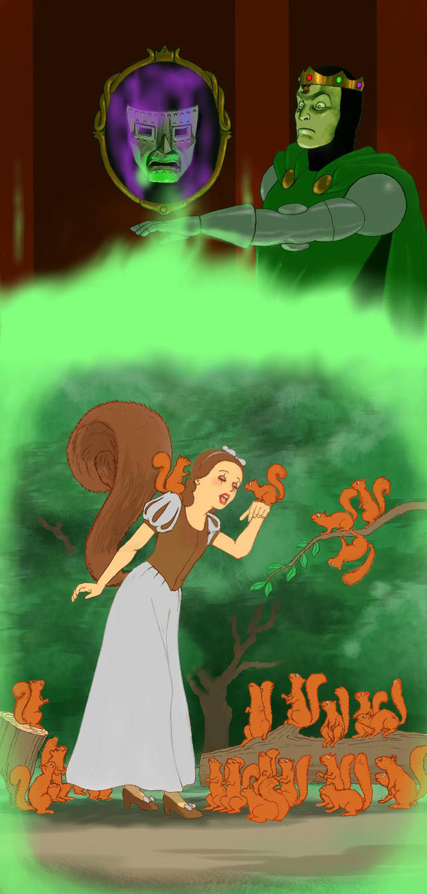 TLIID Disneyfied Squirrel Girl and Doctor Doom by Nick-Perks