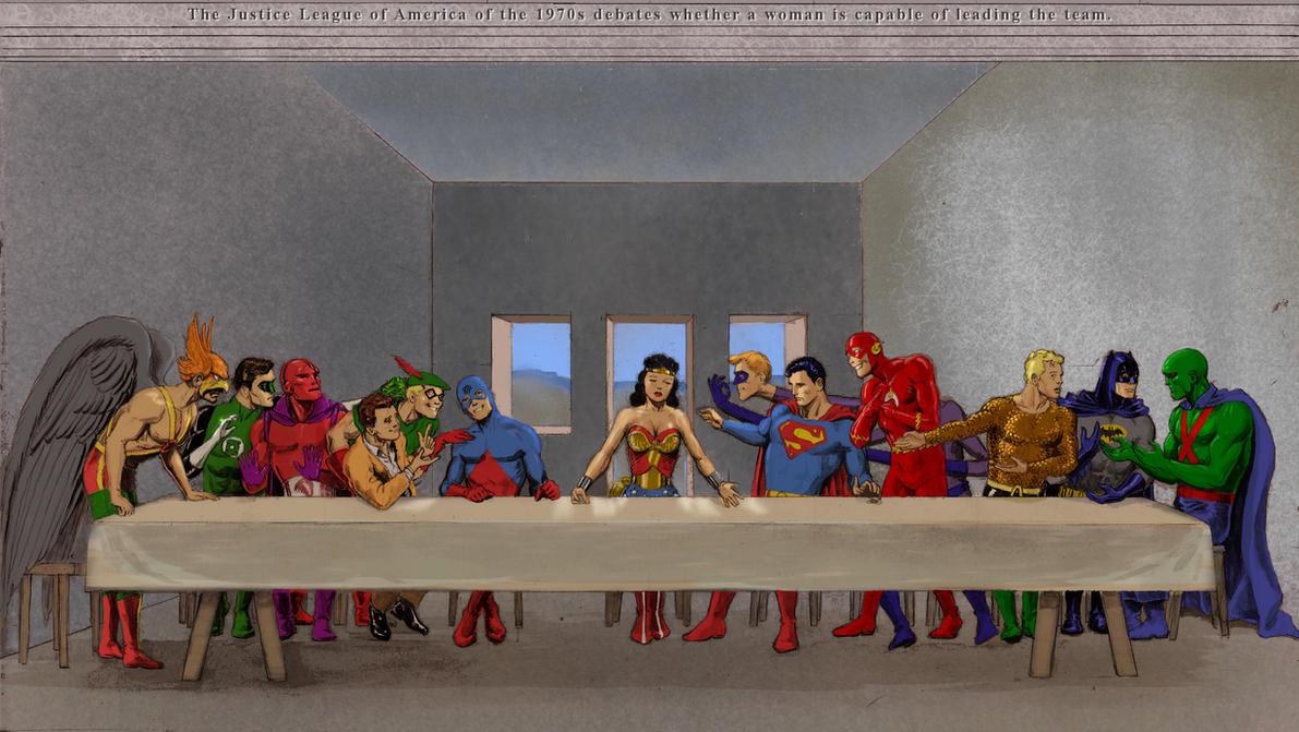 TLIID Wonder Woman in... The Last Supper by Nick-Perks
