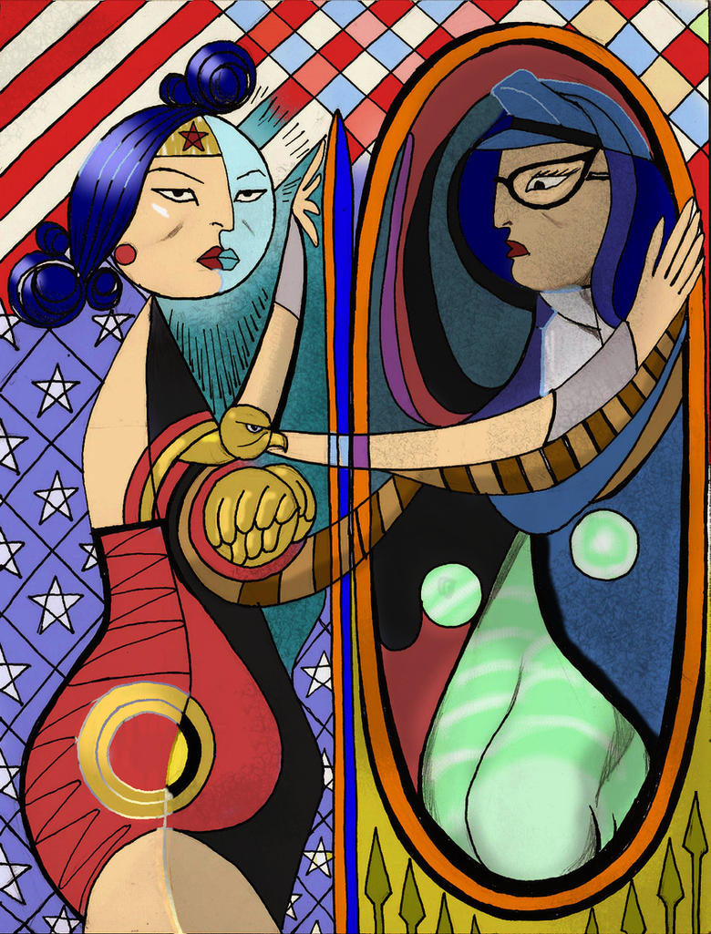 TLIID Wonder Woman in Picasso Girl Before A Mirror by Nick-Perks