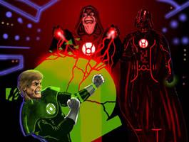 TLIID Star Wars mash-ups Emperor Red Lantern by Nick-Perks