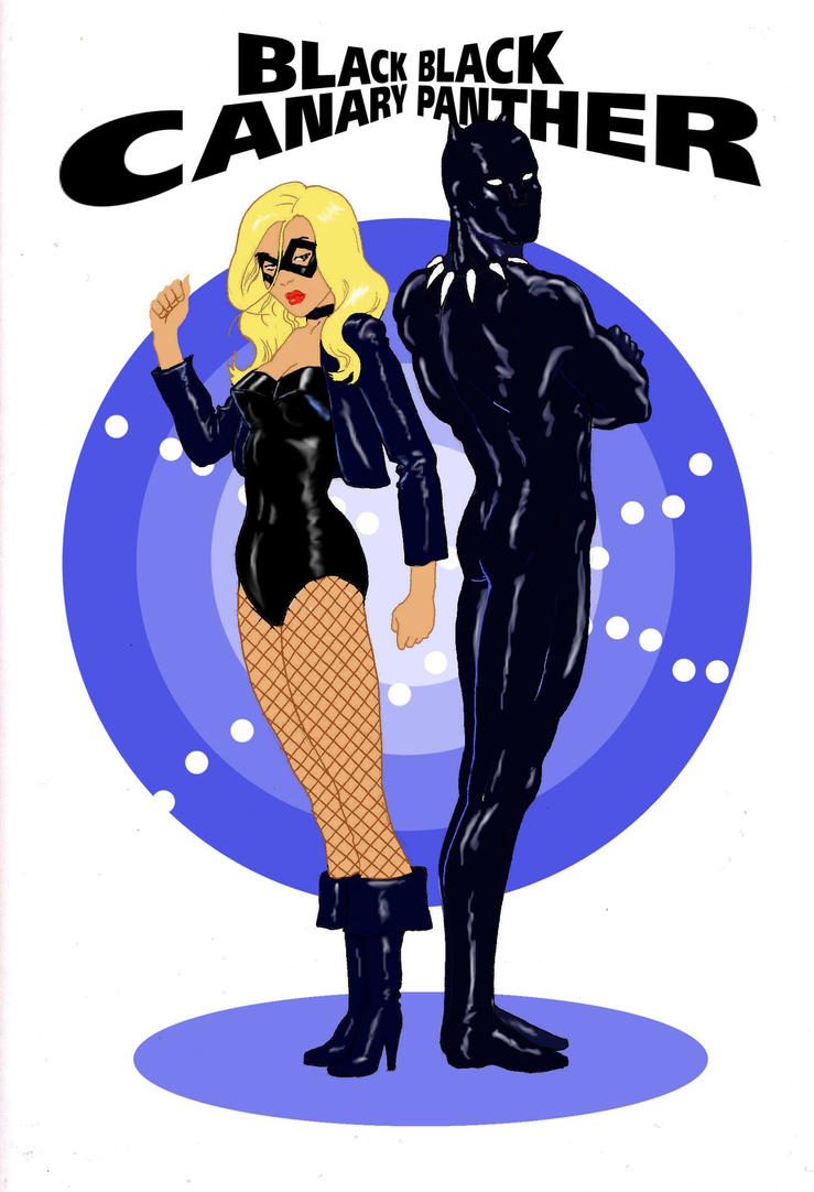 TLIID Black Panther team-up - Black Canary by Nick-Perks
