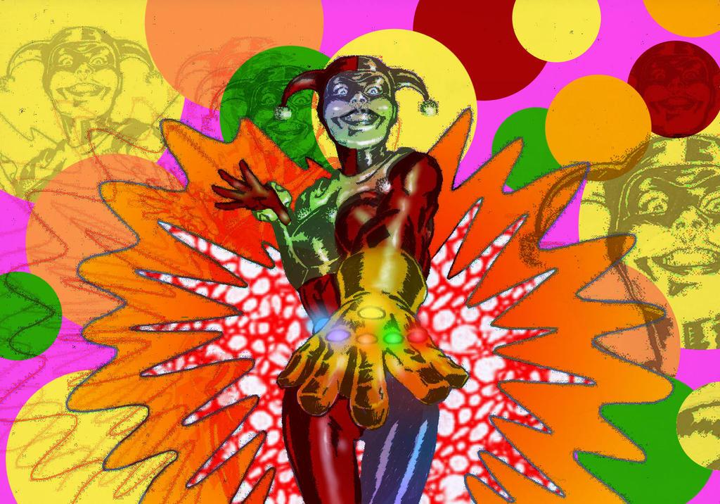 TLIID - The Infinity Gauntlet held by Harley Quinn by Nick-Perks