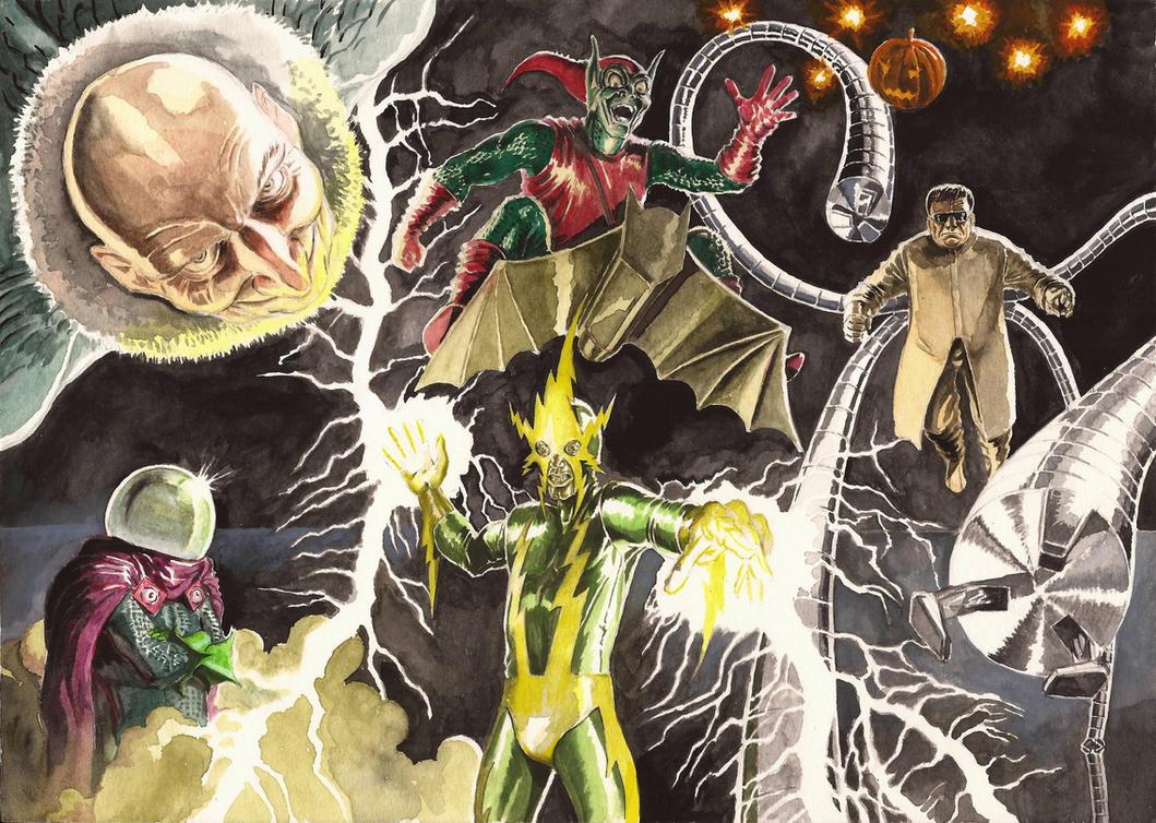 Spider-villains of Steve Ditko by Nick-Perks