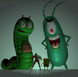 TLIID Spongebob week Mr. Mind and Plankton by Nick-Perks