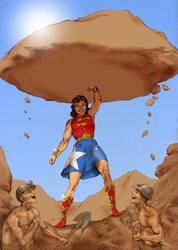 TLIID Super-kids Superman and Wonder Woman by Nick-Perks