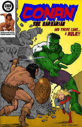 TLIID Conan on classic covers, Captain America 110 by Nick-Perks