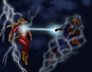 TLIID Captain Marvel meets Kingdom Come Shazam! by Nick-Perks