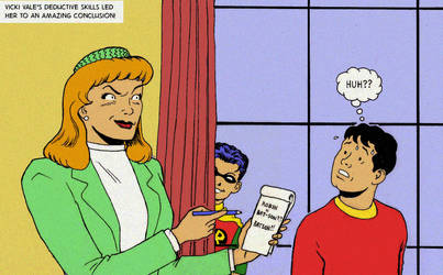 TLIID tweak - Billy Batson is thought to be Robin? by Nick-Perks