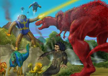 TLIID tweak - Devil Dinosaur had feathers by Nick-Perks
