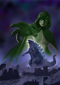 TLIID Godzilla versus superheroes - The Spectre