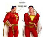 TLIID Past vs Now - Captain Marvel vs Shazam by Nick-Perks