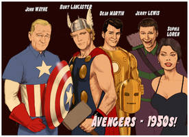 TLIID  The Avengers cast - 1950s style