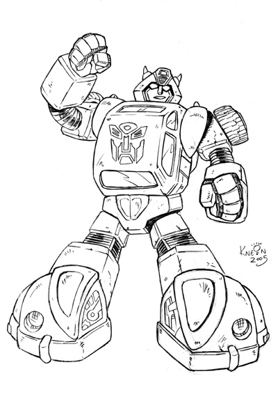 Transformers g1 bumblebee by kneont on deviantart for Bumblebee transformers coloring pages