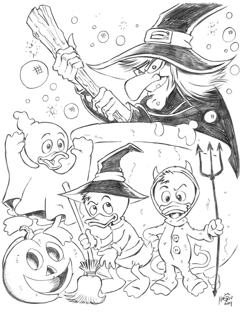 Huey Dewey and Louie Halloween