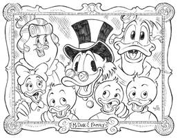 DuckTales Family Portrait by KneonT