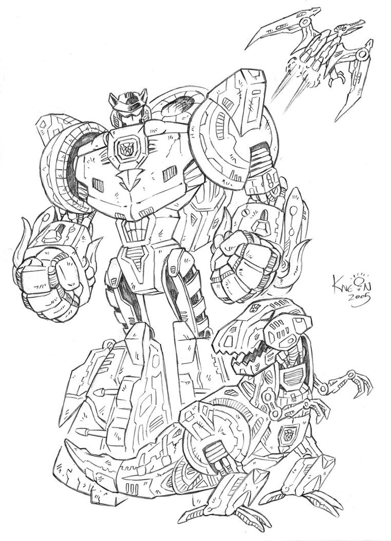 Free printable optimus prime coloring pages coloring pages for free - Transformers Energon Grimlock By Kneont On Deviantart