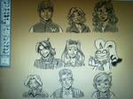 Sepia Shadowbinders Cast Portraits