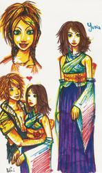 FFX marker doodles by mollie