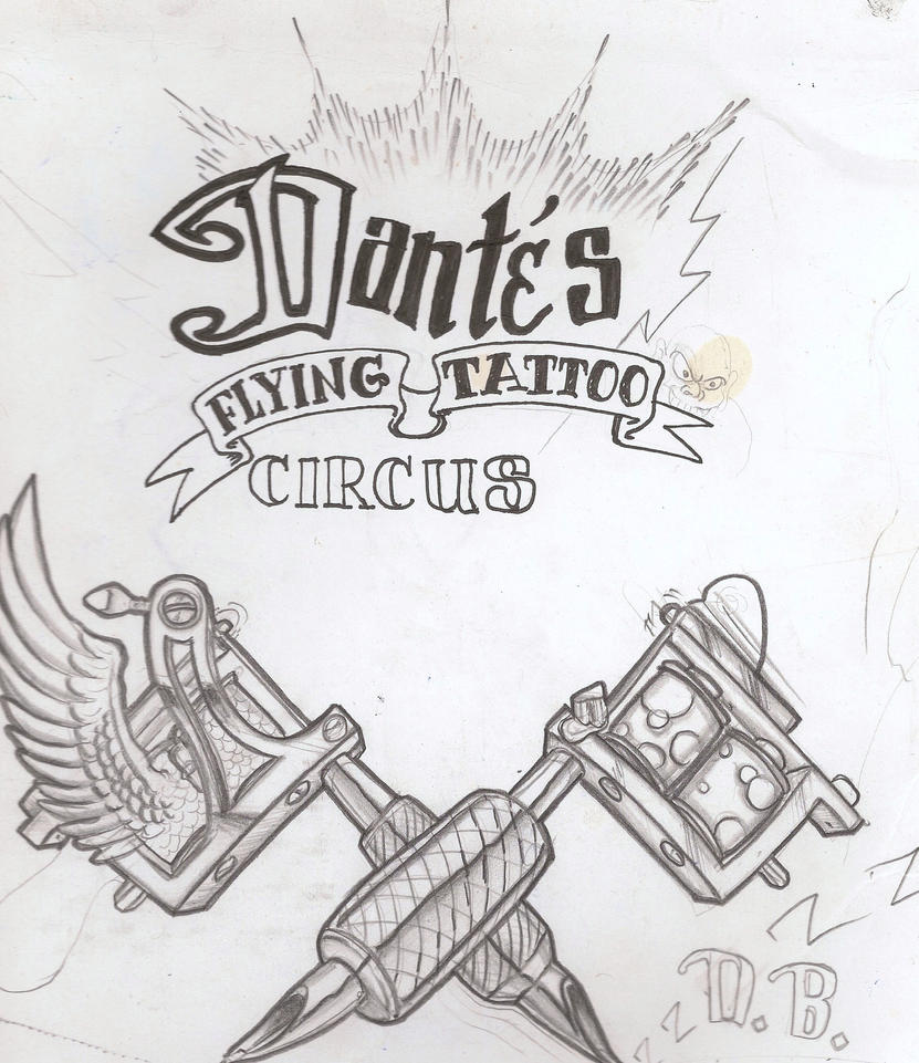 dantes flying tattoo circus by mannylove1 on deviantart. Black Bedroom Furniture Sets. Home Design Ideas