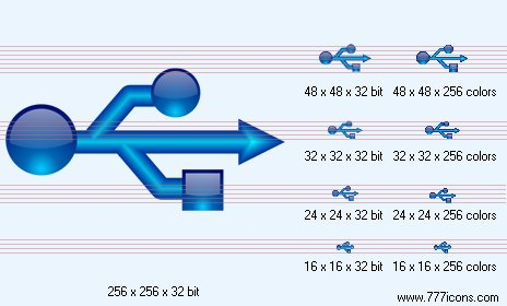 USB connection Icon by network-vista-icons