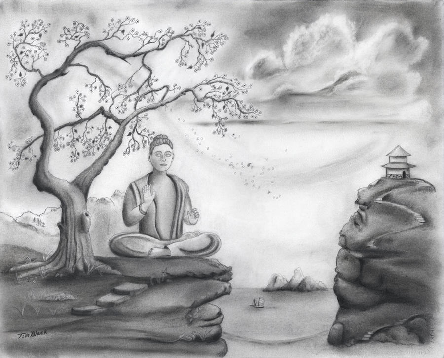 Buddha meditation by bigsteel