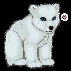 Baby Polar Bear Doodle by Xavienna